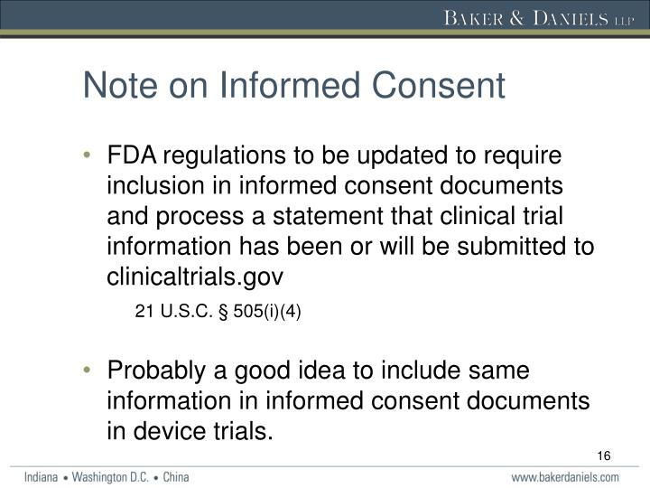 Note on Informed Consent
