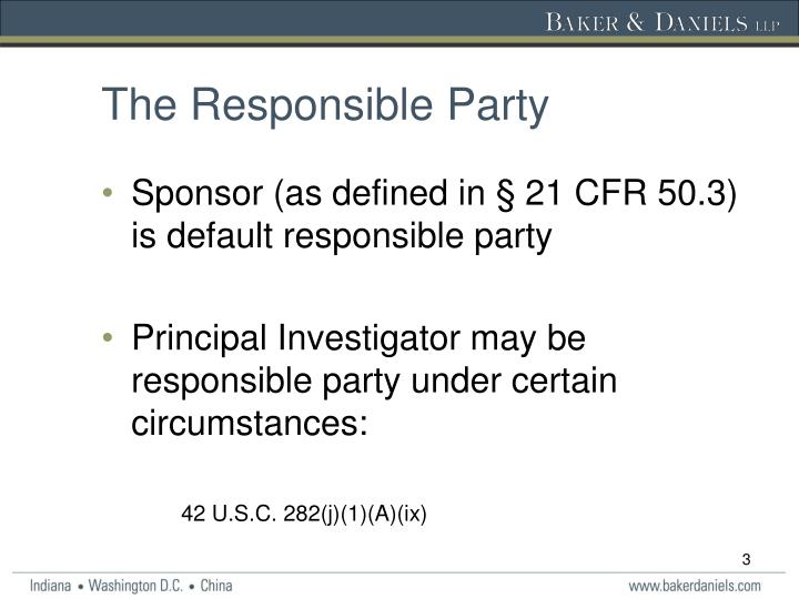 The Responsible Party