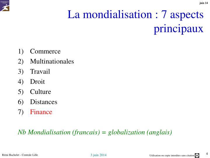La mondialisation : 7 aspects principaux