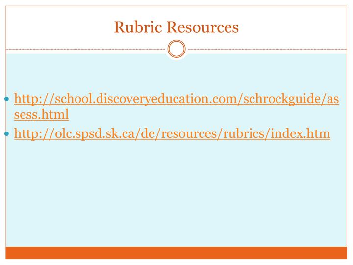 Rubric Resources