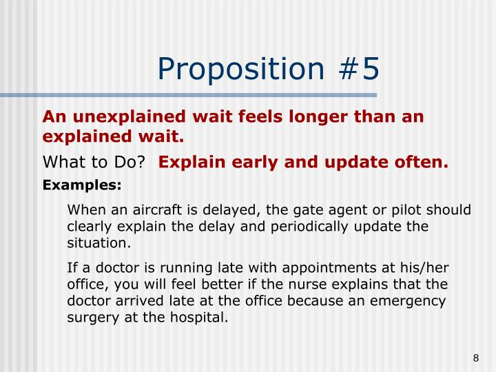 Proposition #5