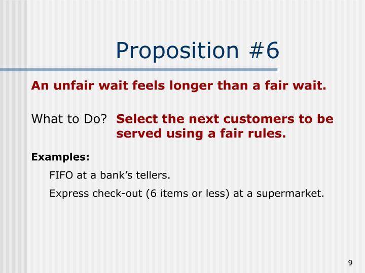 Proposition #6