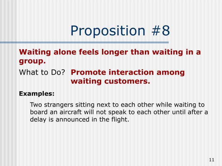 Proposition #8