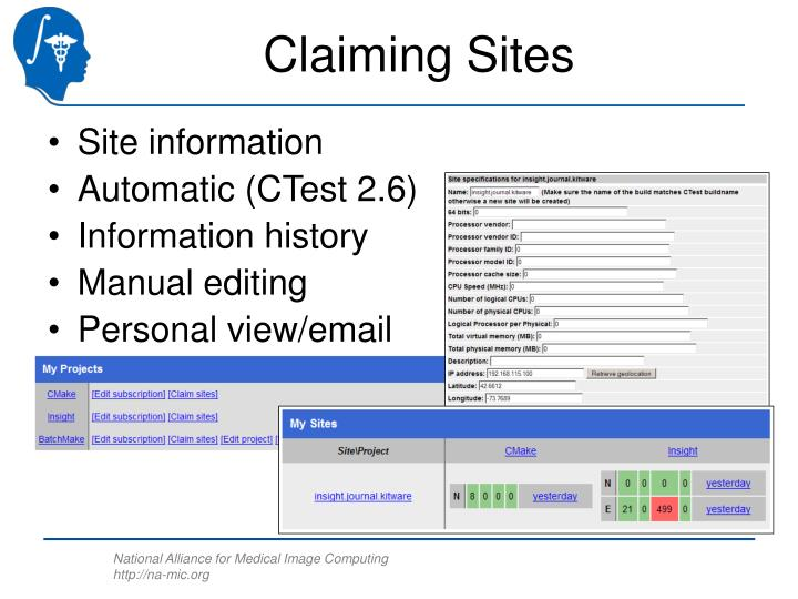 Claiming Sites