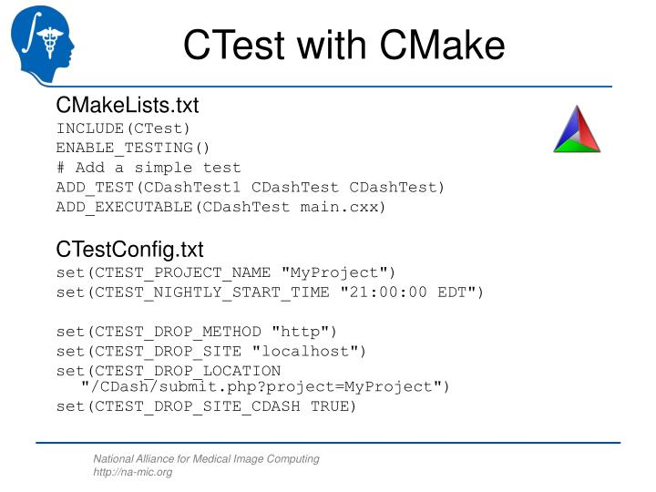 CTest with CMake
