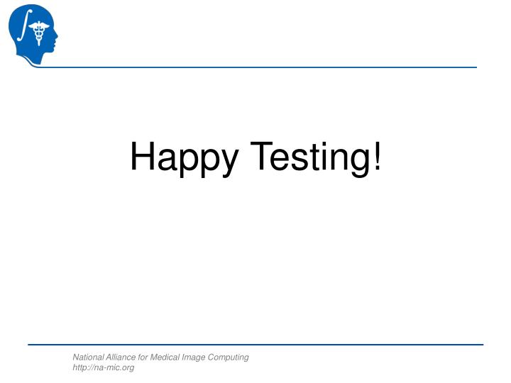 Happy Testing!
