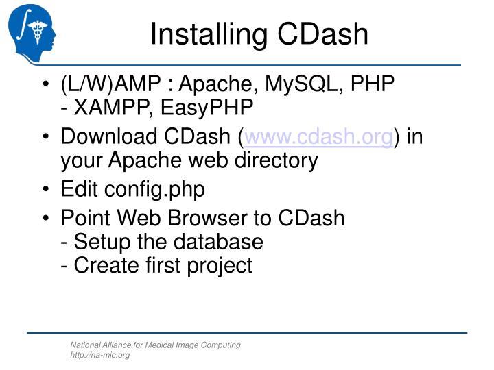 Installing CDash