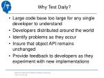 why test daily