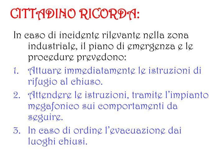 CITTADINO RICORDA: