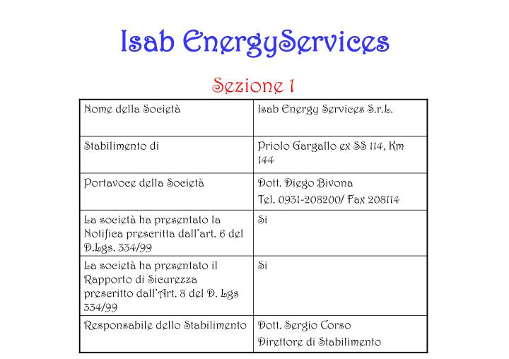 Isab EnergyServices