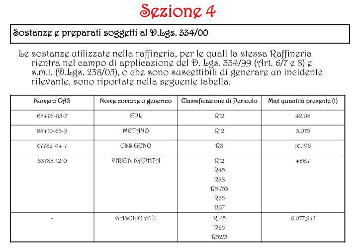Sezione 4