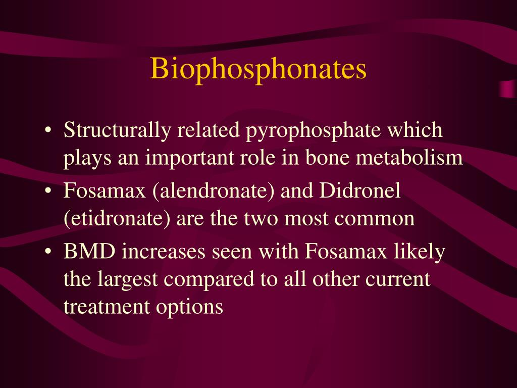 Biophosphonates