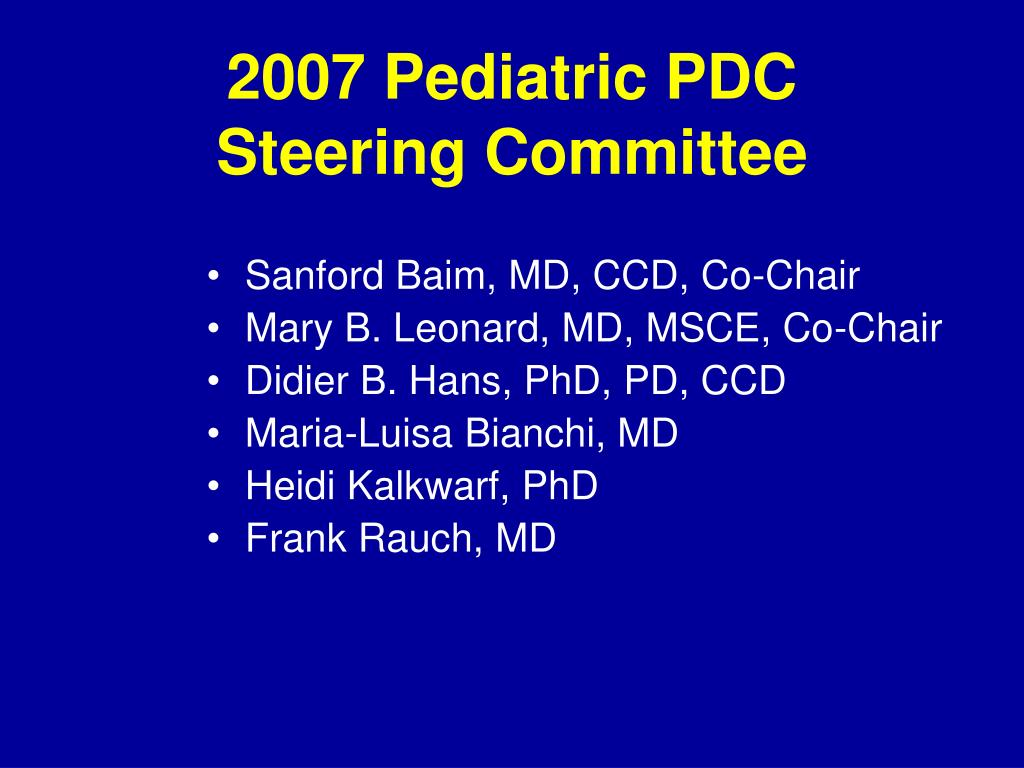 2007 Pediatric PDC