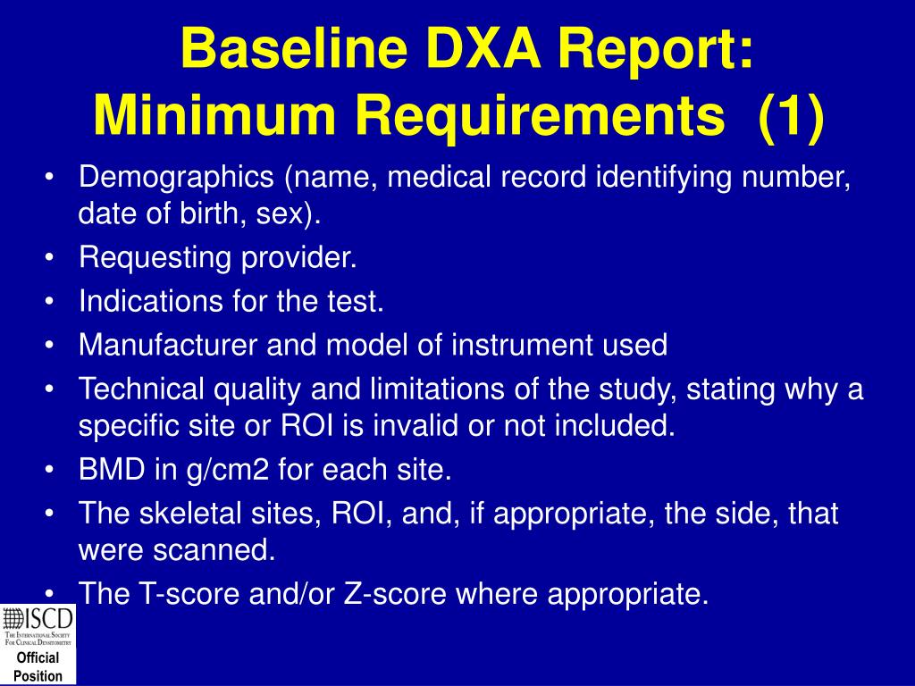 Baseline DXA Report: Minimum Requirements  (1)