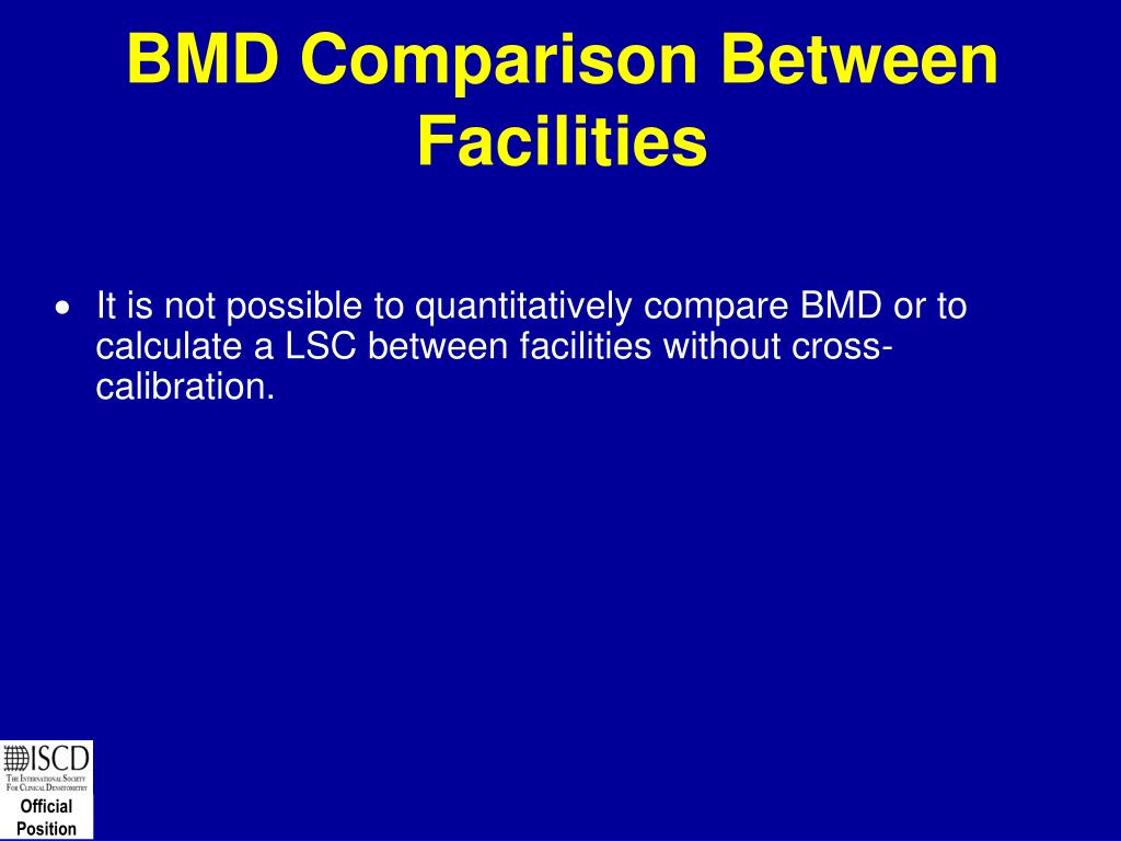 BMD Comparison Between Facilities