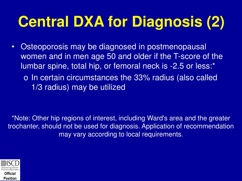 Central DXA for Diagnosis (2)