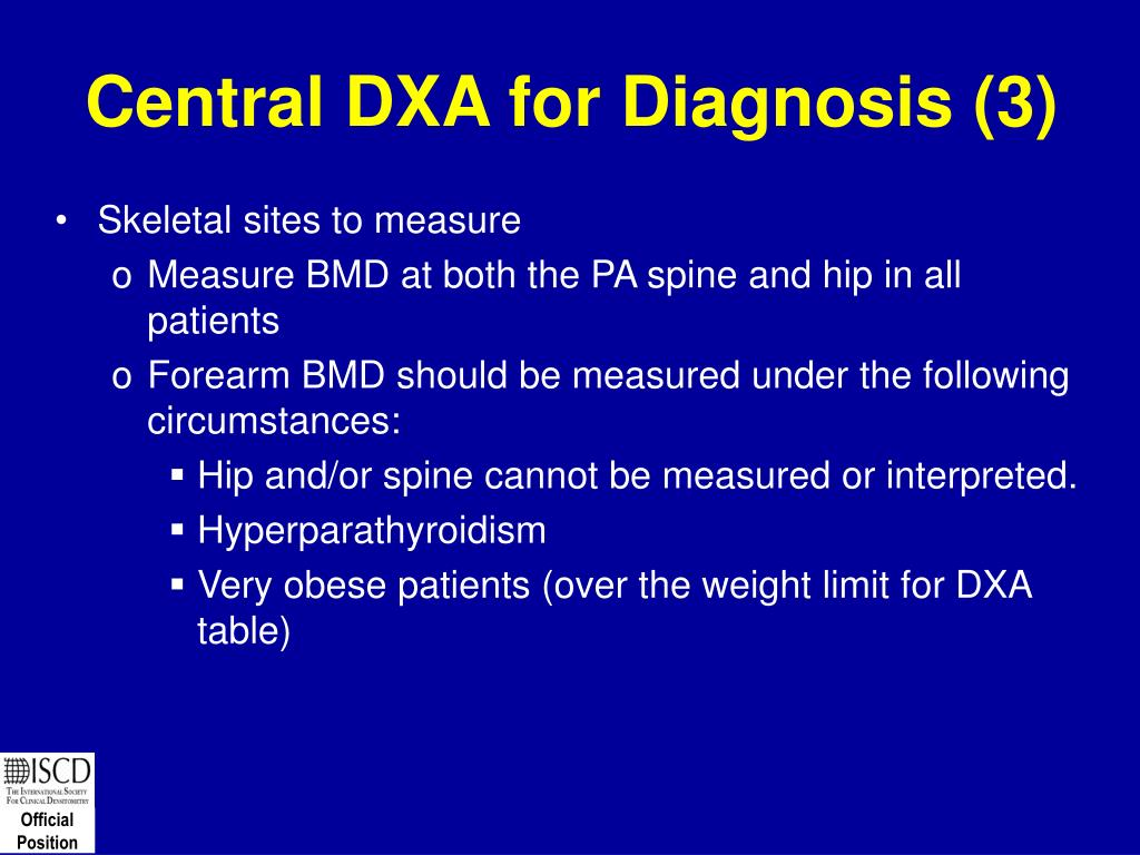 Central DXA for Diagnosis (3)