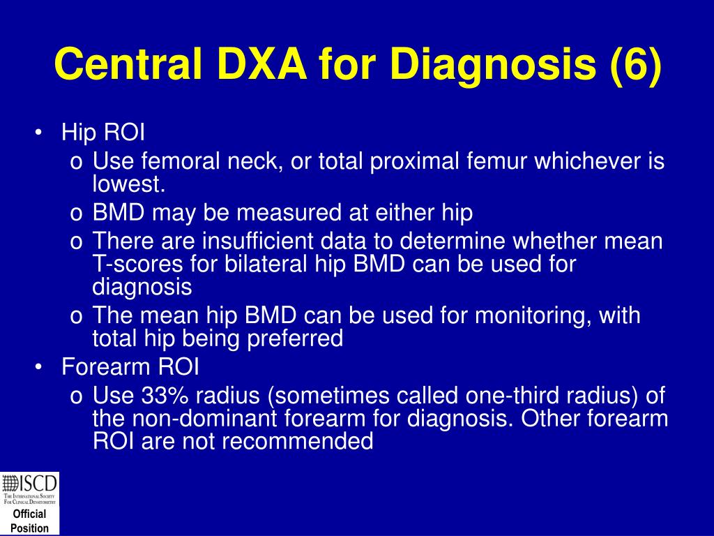 Central DXA for Diagnosis (6)