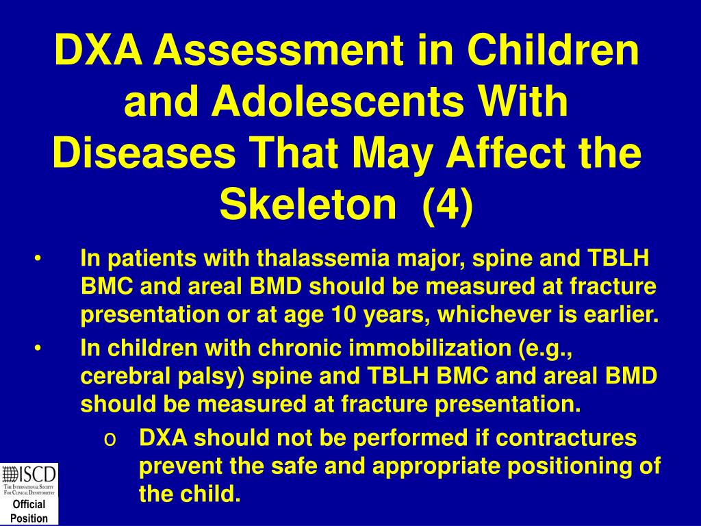 DXA Assessment in Children and Adolescents With Diseases That May Affect the Skeleton  (4)