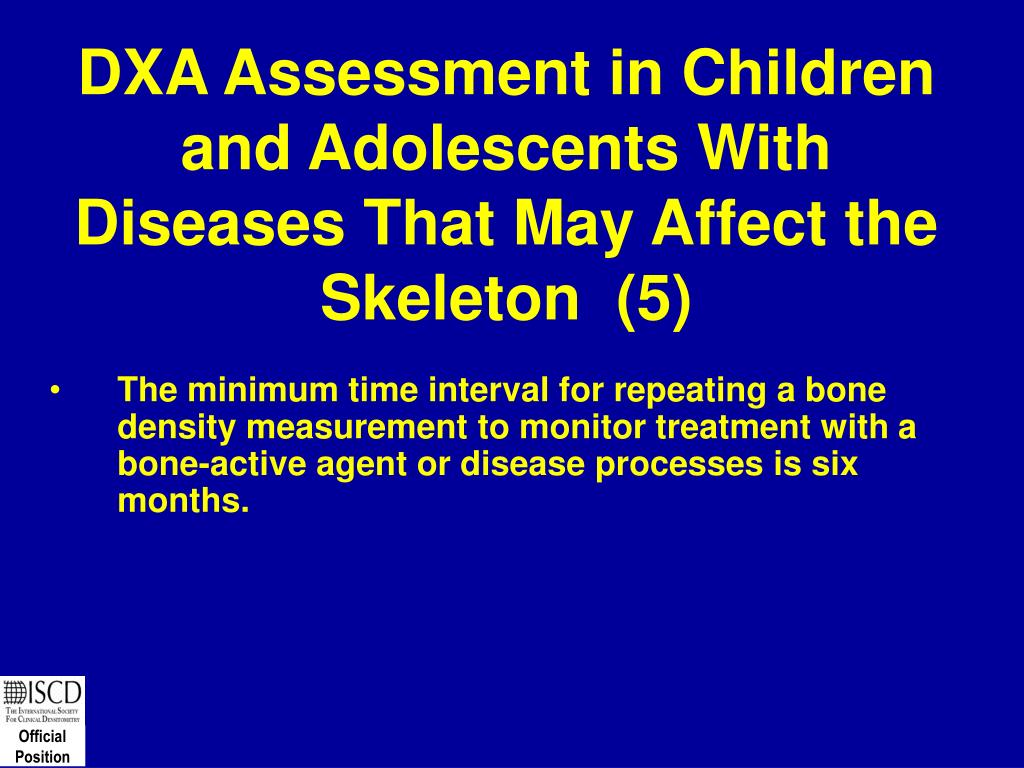 DXA Assessment in Children and Adolescents With Diseases That May Affect the Skeleton  (5)