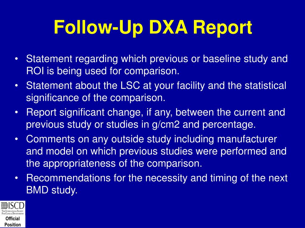 Follow-Up DXA Report