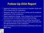 follow up dxa report