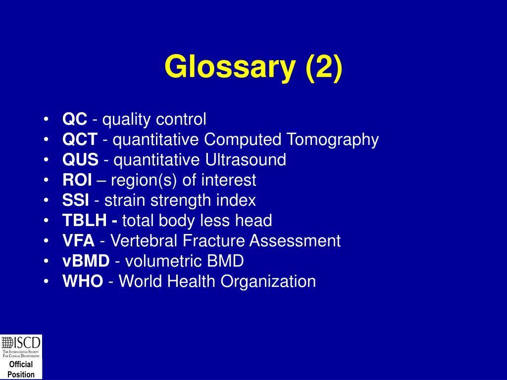 Glossary (2)