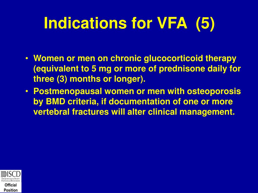 Indications for VFA  (5)