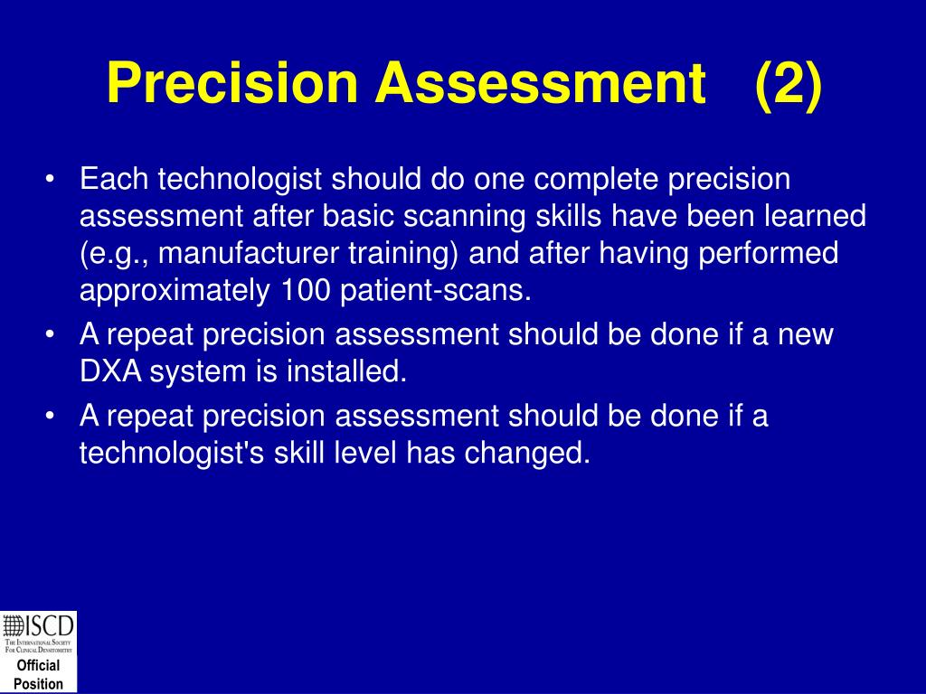 Precision Assessment   (2)