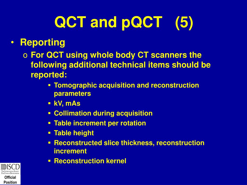 QCT and pQCT   (5)