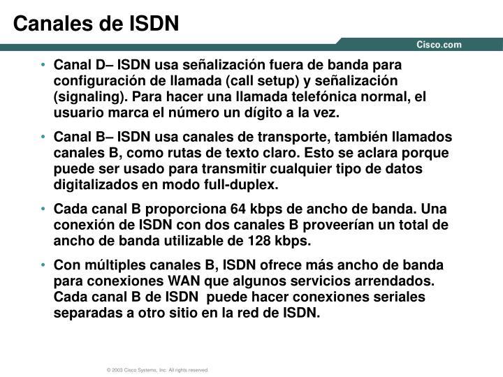 Canales de ISDN