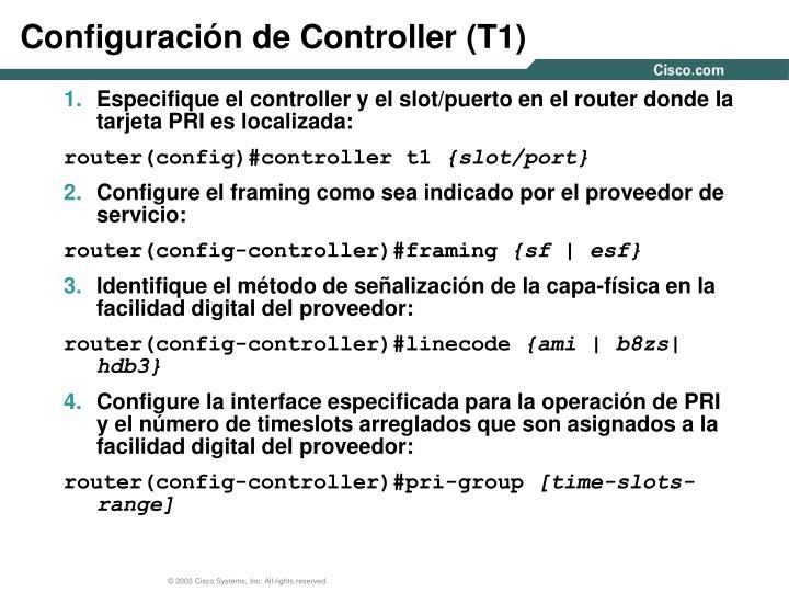 Configuración de Controller (T1)