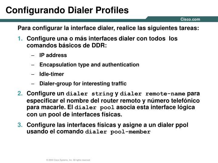 Configurando Dialer Profiles