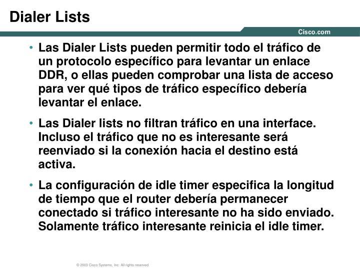 Dialer Lists