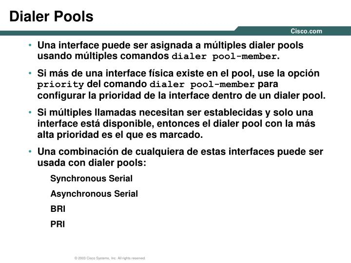 Dialer Pools