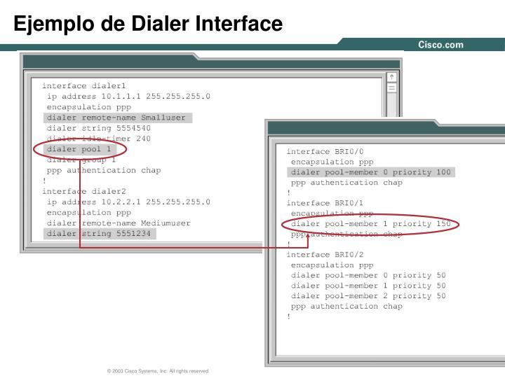 Ejemplo de Dialer Interface
