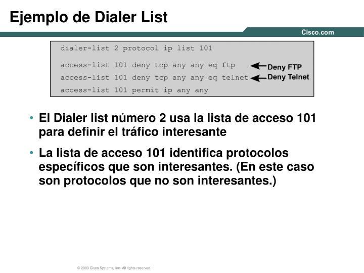 Ejemplo de Dialer List