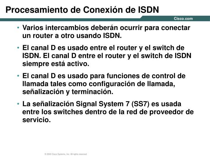 Procesamiento de Conexión de ISDN