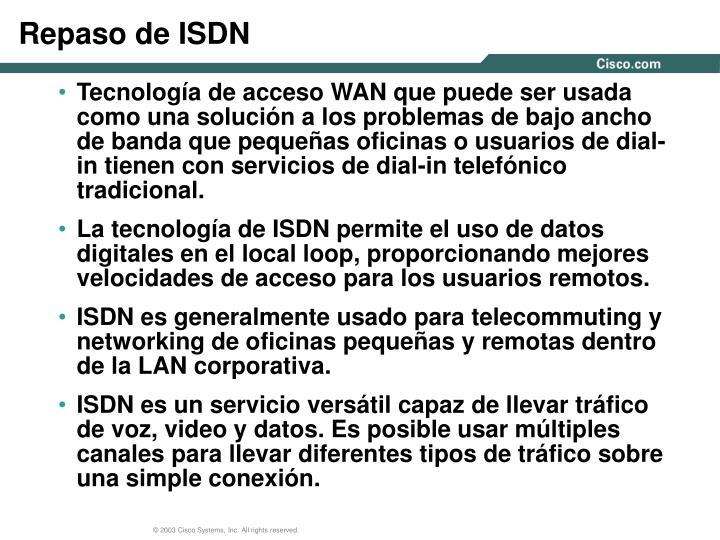 Repaso de ISDN