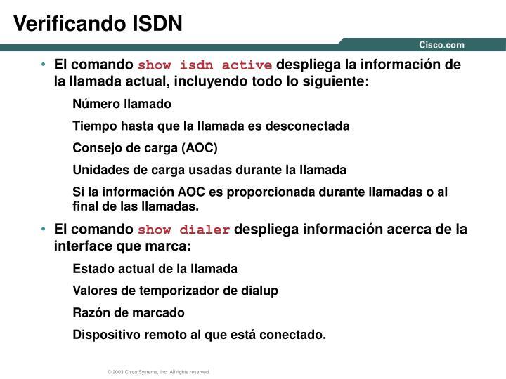 Verificando ISDN
