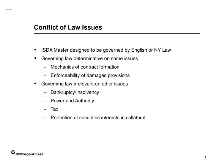Conflict of Law Issues