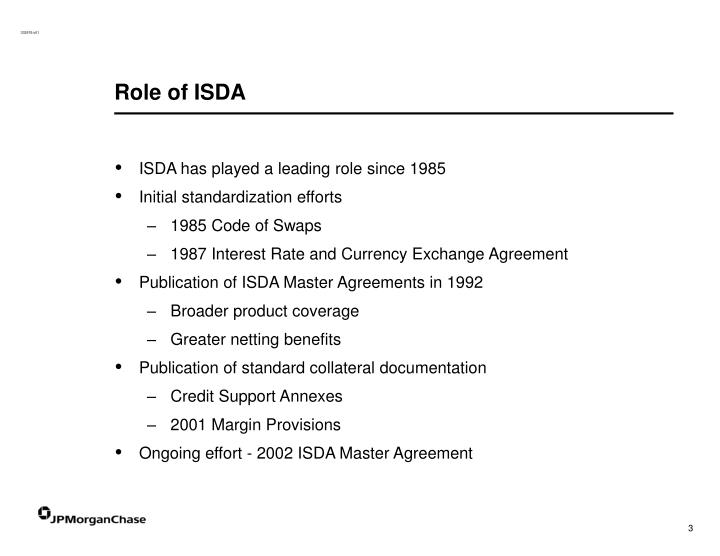 Role of ISDA
