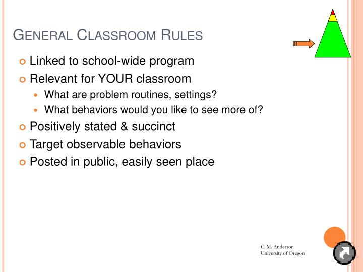 General Classroom Rules
