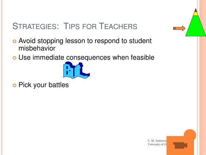 Strategies:  Tips for Teachers