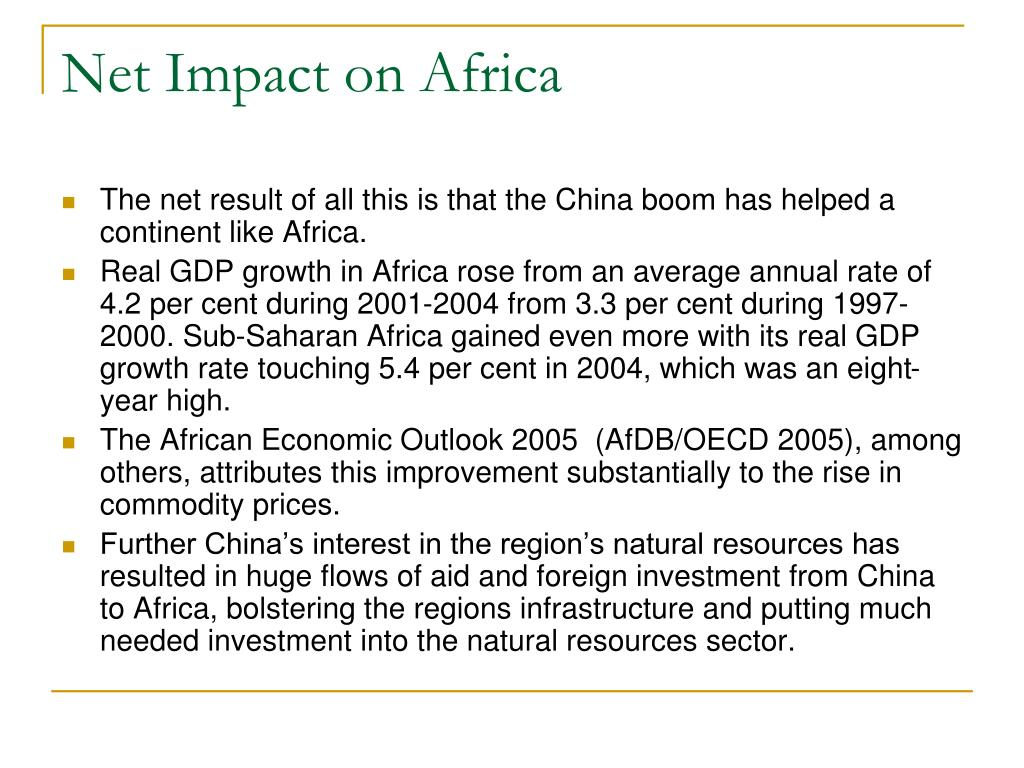 Net Impact on Africa