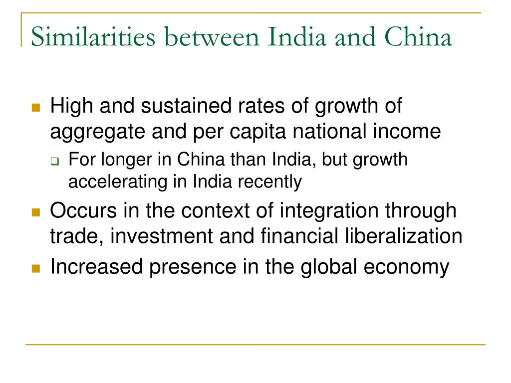Similarities between India and China