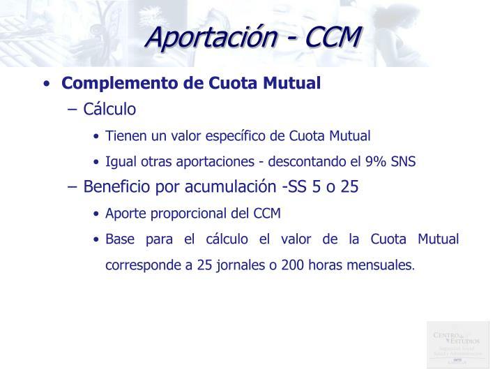 Aportación - CCM