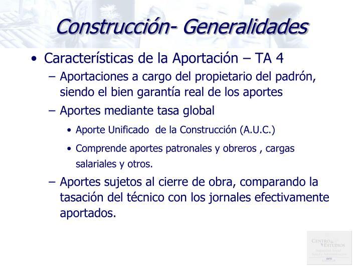 Construcción- Generalidades