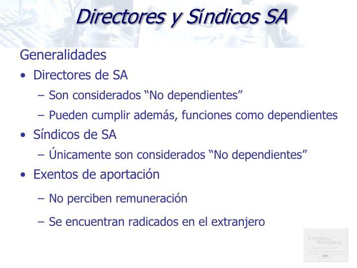Directores y S