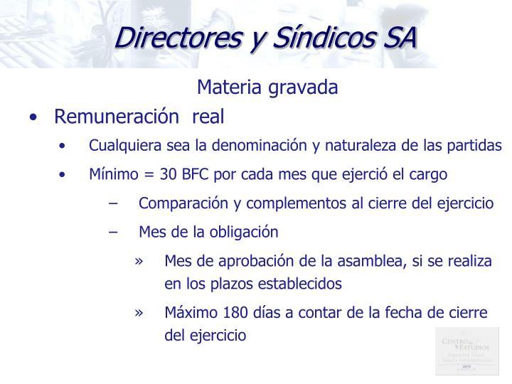 Directores y Síndicos SA